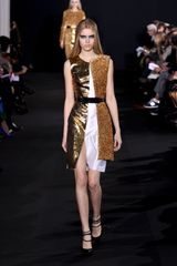 Prabal Gurung Fall 2012 Silk Satin Coctail Sleeveless Dress with Gold Lamé - Lyst