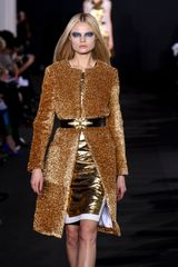 Prabal Gurung Fall 2012 Long Coat in Gold Lamé - Lyst