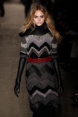 Rag & Bone Fall 2012 Crochet Leather Applique Dress in Gray (black, purple) - Lyst