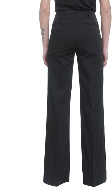 Red Valentino Cotton Wide Leg Pants In Black Lyst
