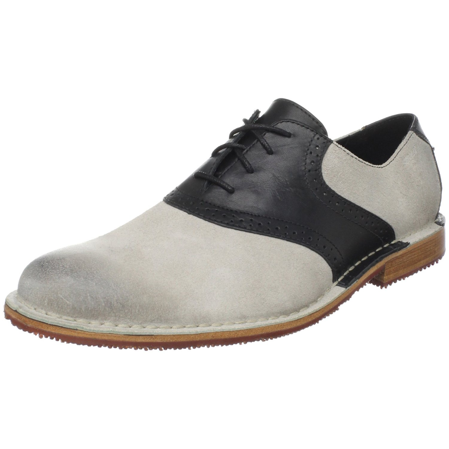 sebago mens storrow saddle oxford in white for black
