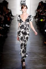 Suno Fall 2012 Illustrated Black And White Gown - Lyst