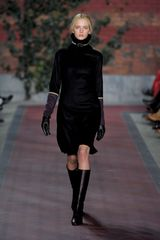Tommy Hilfiger Fall 2012 Funnel Neck Dress  in Black - Lyst