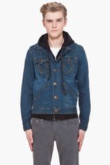 True Religion Hooded Denim Johnny Jacket - Lyst