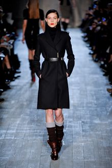 Victoria Beckham Fall 2012 Long Coat in Black - Lyst