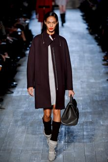 Victoria Beckham Fall 2012 Long Coat in Purple - Lyst
