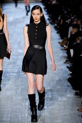 Victoria Beckham Fall 2012 Short Sleeveless Military Styled Black Dress with Epaulettes - Lyst