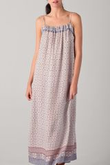 Vince Scarf Print Maxi Dress - Lyst