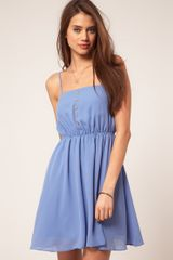 ASOS Collection Asos Strappy Dress with Skater Skirt - Lyst
