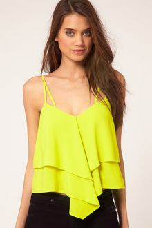 ASOS Collection Asos Cami with Tiers and Double Strap - Lyst