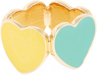 ASOS Collection Asos Four Enamel Hearts Ring - Lyst