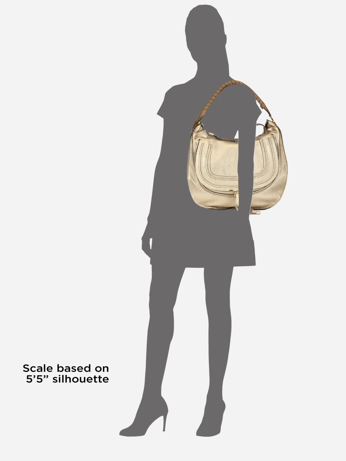 Chlo¨¦ Marcie Metallic Large Hobo Bag in Beige | Lyst