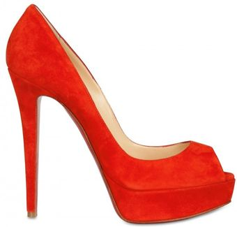 Christian Louboutin 140mm Banana Suede Open Toe Pumps - Lyst