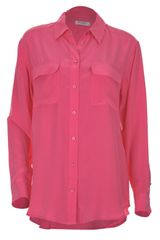 Equipment Hot Pink Silk Signature Shirt in Pink - Lyst