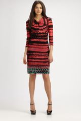 Kay Unger Printed Dress - Lyst
