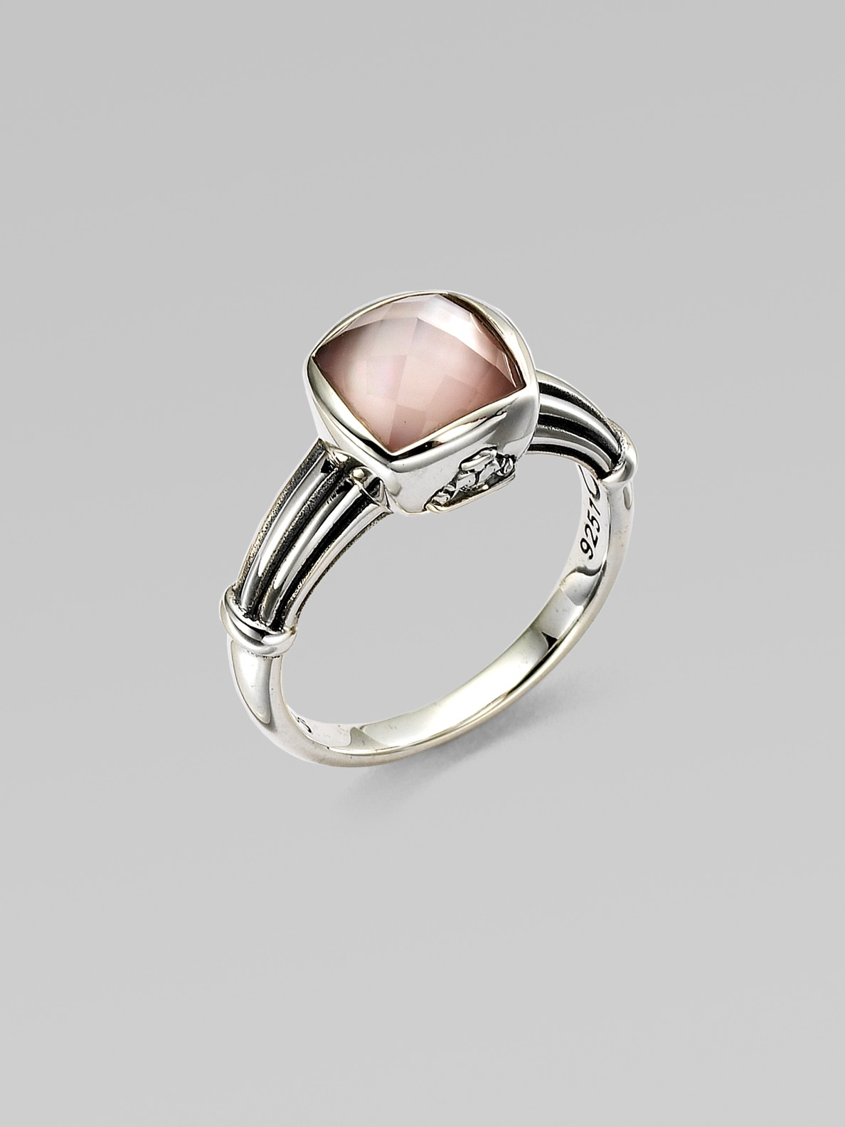 Mother Of Pearl Diamond Ring