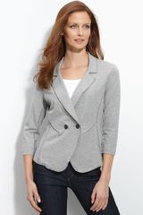 Nic + Zoe Double Breasted Knit Blazer - Lyst