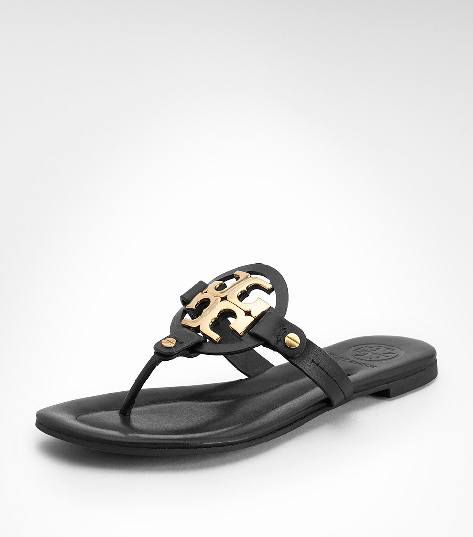 Tory Burch Women's Black Val Patent Flat Sandal See more Tory Burch Flat sandals. Create personalised Tory Burch updates. Find on store. Tory Burch Black Friday deals. Sign up and create a lyst and be the first to know when we detect new sale items from Tory Burch. Create lystPrice: $