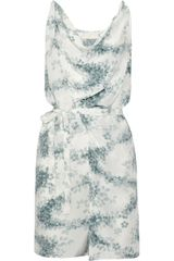 Vanessa Bruno Printed Silk Dress - Lyst