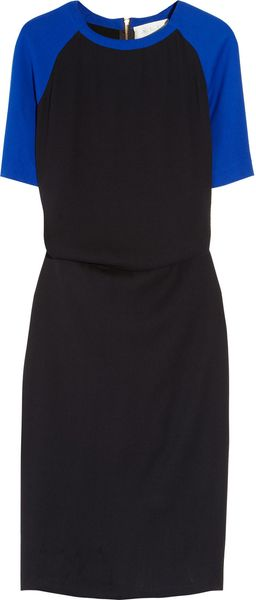 A.L.C. Betsee Crepe and Silk Color-block Dress - Lyst