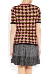 Bottega Veneta Woven Cottonblend Sweater in Multicolor (multicolored) - Lyst