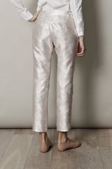 Christopher Kane Metallic Brocade Trousers in Pink - Lyst