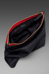 Clare Vivier Foldover Clutch in Navy/red in Blue (navy & red) - Lyst