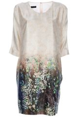 Emporio Armani Printed Dress - Lyst