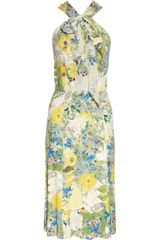 Erdem Romily Printed Stretchjersey Dress in Multicolor (multicolored) - Lyst