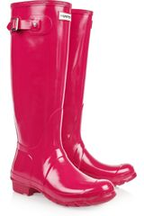 Hunter Original Tall Wellington Boots in Red (raspberry) - Lyst