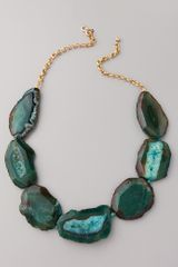 Kenneth Jay Lane Chain & Natural Stone Necklace - Lyst