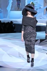 Marc Jacobs Fall 2012 Oversized Fur Hat In Gray in Gray (black, grey, silver) - Lyst