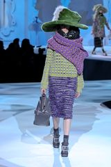 Marc Jacobs Fall 2012 Wool Stole In Purple  in Purple (orange, purple) - Lyst