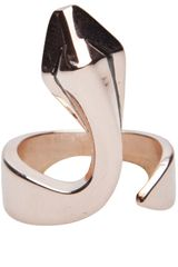 Maria Francesca Pepe One Snake Ring - Lyst