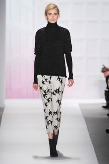 Tibi Fall 2012 Bird Print Cropped Tailored Pants  - Lyst
