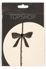 Topshop Bow Seam Back Tights in Beige (nude) - Lyst