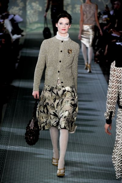 Tory Burch Fall 2012 Heavily Embellished Floral Clutch in Floral - Lyst