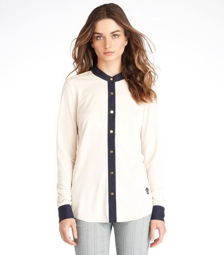 Tory Burch Reena Blouse in Blue - Lyst