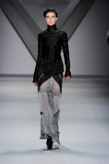 Vera Wang Fall 2012 Turtleneck Geometric Print Jacket  - Lyst