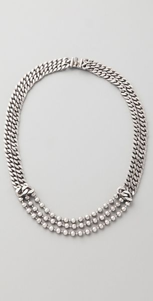 Dannijo Macanta Necklace in Silver - Lyst