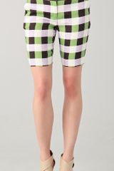 Diane Von Furstenberg New Boymuda Plaid Shorts - Lyst