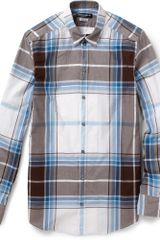 Dolce & Gabbana Gold Fit Plaid Cotton Shirt - Lyst