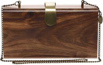 French Connection Wonder Wood Clutch Bag - Lyst