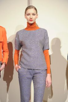 J.Crew Fall 2012 Long Sleeve Crew Neck Sweater In Orange - Lyst