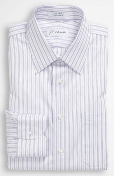 John W. Nordstrom® Traditional Fit Dress Shirt in White for Men ...