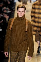 Michael Kors Fall 2012 Super Chunky Wool Turtleneck Sweater In Mustard