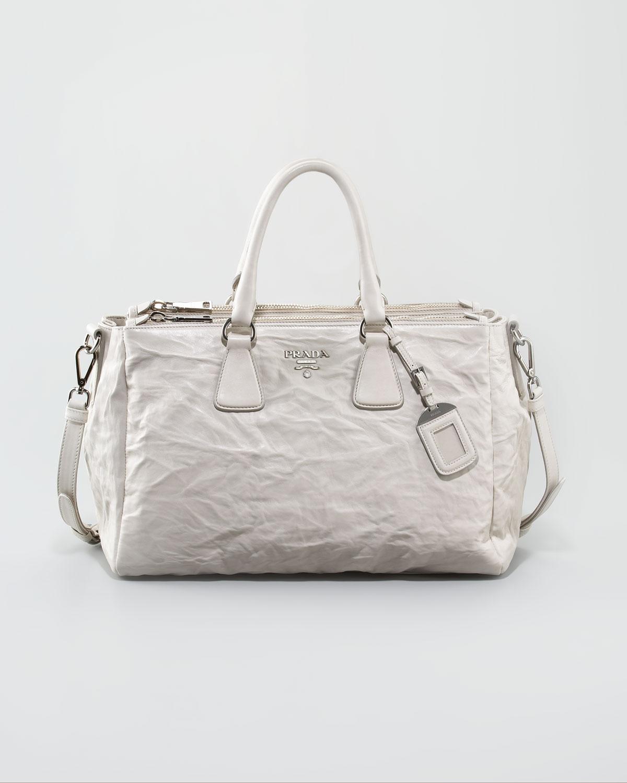 prada bags website - Prada Napa Antique Galleria Tote in Brown (ghiaccio) | Lyst