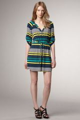 Shoshanna Resse Striped Day Dress - Lyst
