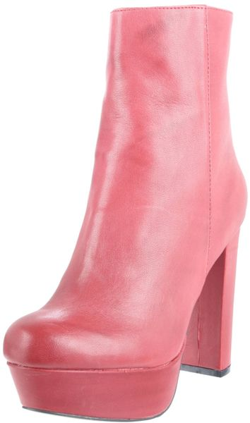Steve Madden Womens Desirred Boot in Red (red leather) - Lyst