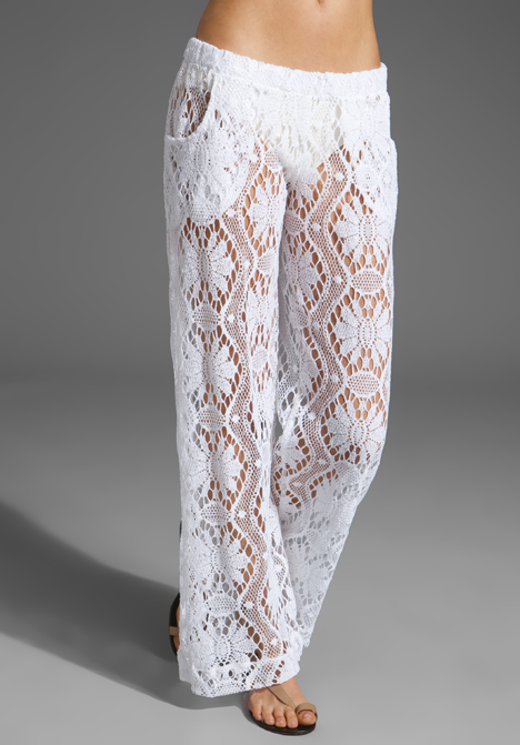 Trina Turk Kuta Crochet Cover Up Pants In White Lyst
